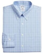 6e316924 Brooks Brothers Men's Regent Slim-Fit Stretch Non-Iron Check Dress Shirt