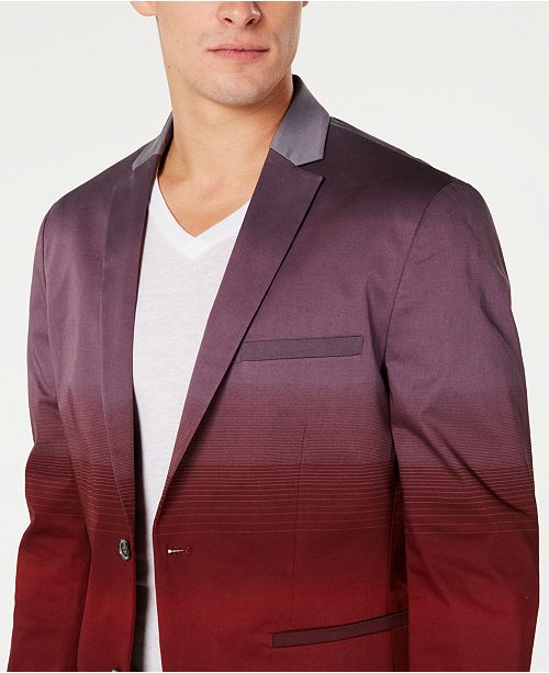 INC International Concepts INC Men's Slim-Fit Colorblocked Blazer, Created for Macy's