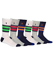 Polo Ralph Lauren Men's 6-Pk. Athletic Varsity Stripes Crew Socks