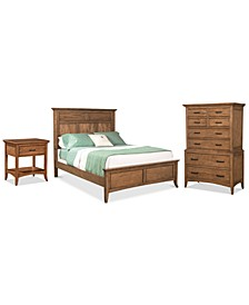 Lockeland Solid Wood Bedroom 3-Pc. Set (California King Bed, Nightstand & Chest)