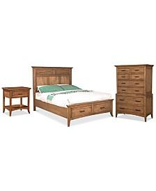Lockeland Solid Wood Bedroom Furniture 3-Pc. Set (Queen Storage Bed, Nightstand & Chest)