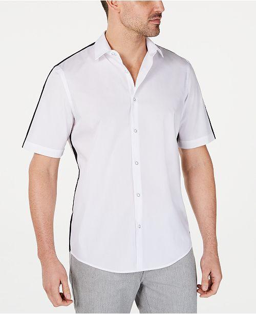 Alfani Men's David Contrast Shirt, Created for Macy's