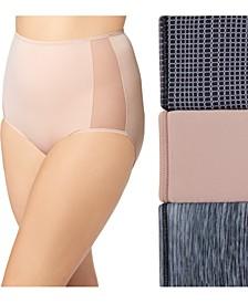 Women's 3-Pk. Plus Size Ultra Stretch Brief Underwear GS1603P