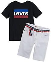c99811a8 Levi's® Toddler Boys Logo-Print T-Shirt & 511™ Belted Slim-