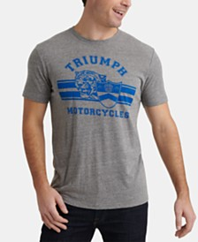 Lucky Brand Men's Triumph Motorcycle Tiger Graphic T-Shirt