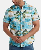 9d19358e42 Lucky Brand Men's Tropical Print Short Sleeve Shirt