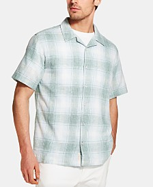 Weatherproof Vintage Men's Plaid Camp Shirt