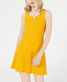 Planet Gold Juniors' Notched Fit & Flare Dress