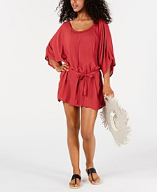 Juniors' Solid Loia Bay Cover-Up Dress