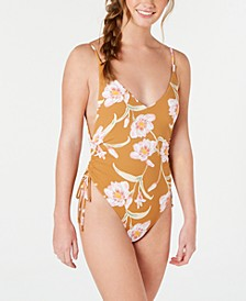 Juniors' Printed One-Piece Swimsuit