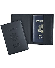 Royce New York Passport Seal Embossed RFID Blocking Passport Case