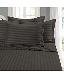 6-Piece Luxury Soft Stripe Bed Sheet Set Full
