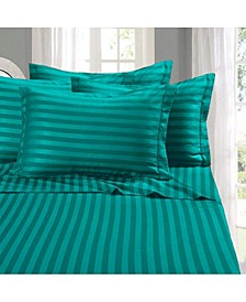 6-Piece Luxury Soft Stripe Bed Sheet Set Full