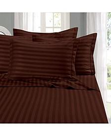 6-Piece Luxury Soft Stripe Bed Sheet Set Queen