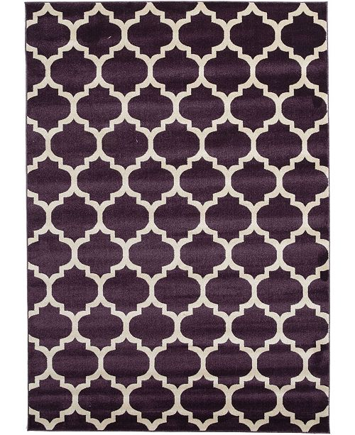 Bridgeport Home Arbor Arb1 Purple 7' x 10' Area Rug