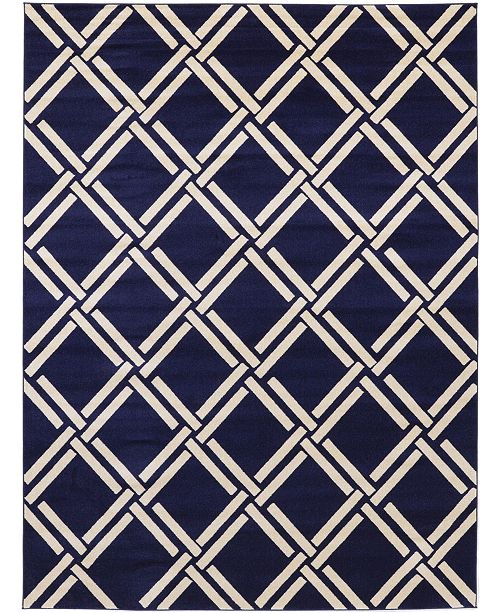 Bridgeport Home Arbor Arb4 Navy Blue 9' x 12' Area Rug