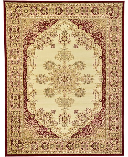 Bridgeport Home Belvoir Blv1 Ivory/Red 9' x 12' Area Rug