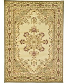 Belvoir Blv1 Ivory/Green 7' x 10' Area Rug