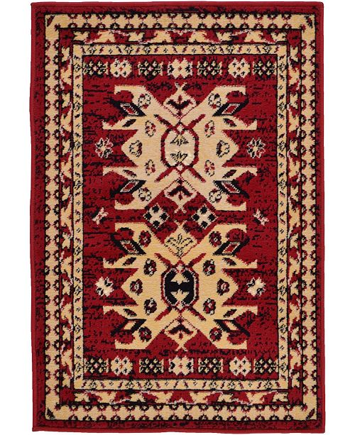 "Bridgeport Home Charvi Chr1 Red 2' 2"" x 3' Area Rug"