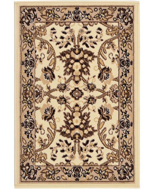 "Bridgeport Home Arnav Arn1 Ivory 2' 2"" x 3' Area Rug"