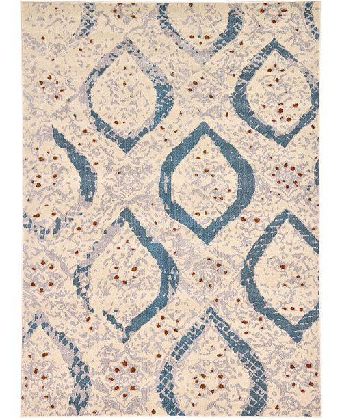 Bridgeport Home Newwolf New1 Ivory 7' x 10' Area Rug