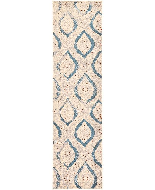 "Bridgeport Home Newwolf New1 Ivory 2' 7"" x 10' Runner Area Rug"
