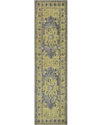 "Sana San6 Gray 2' 7"" x 10' Runner Area Rug"