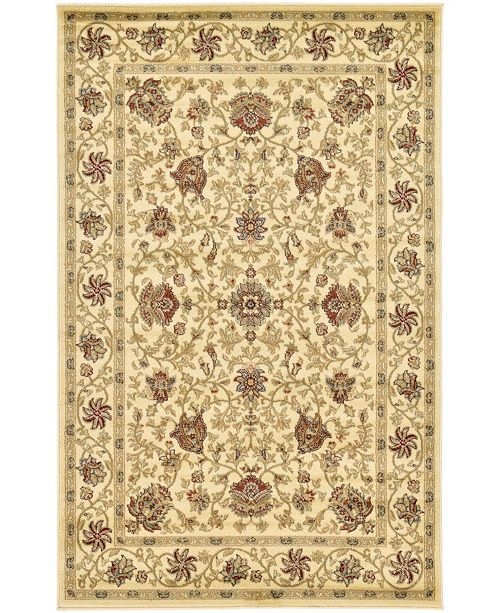 Bridgeport Home Passage Psg6 Ivory 5' x 8' Area Rug