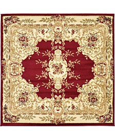 Belvoir Blv5 Red 4' x 4' Square Area Rug
