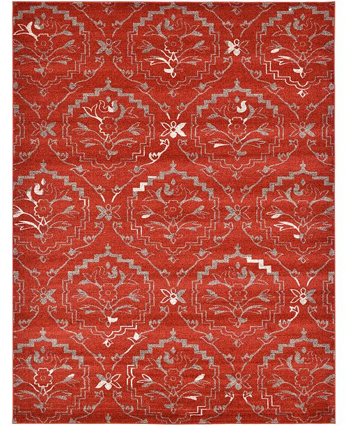 Bridgeport Home Felipe Fel1 Terracotta 9' x 12' Area Rug