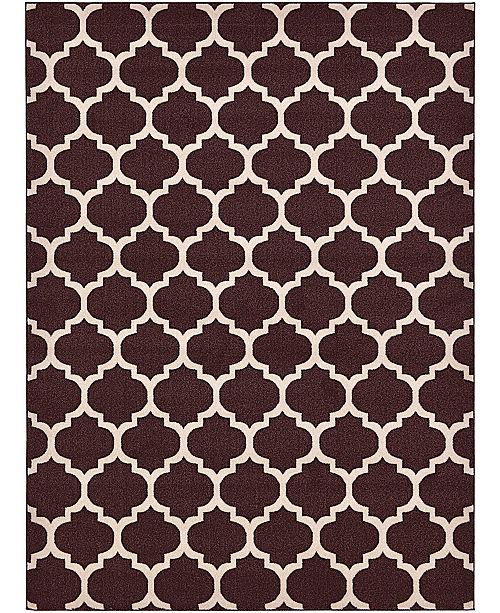 Bridgeport Home Arbor Arb1 Brown 8' x 11' Area Rug