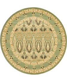 Orwyn Orw3 Light Green 6' x 6' Round Area Rug