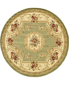 Belvoir Blv3 Green 8' x 8' Round Area Rug