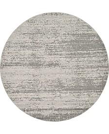 Lyon Lyo3 Gray 8' x 8' Round Area Rug