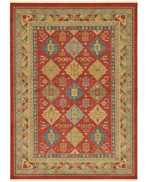 Bridgeport Home Harik Har2 Red 8' x 11' Area Rug