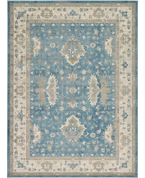 Bridgeport Home Bellmere Bel5 Light Blue 8' x 11' Area Rug