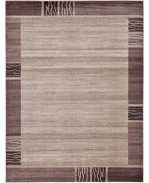 Bridgeport Home Lyon Lyo1 Light Brown 9' x 12' Area Rug