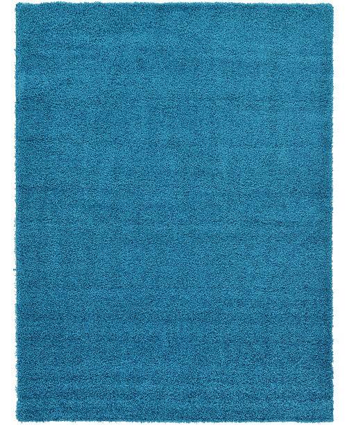 Bridgeport Home Exact Shag Exs1 Turquoise 8' x 11' Area Rug