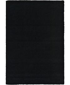 Bridgeport Home Exact Shag Exs1 Jet Black 6' x 9' Area Rug
