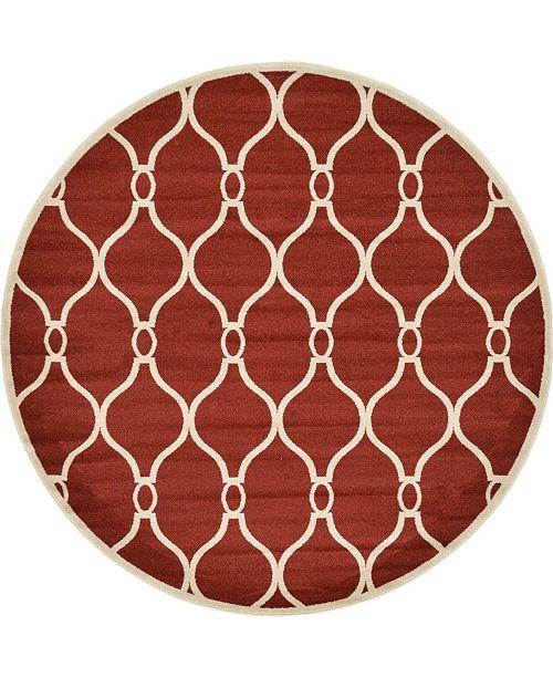 Bridgeport Home Arbor Arb6 Red 8' x 8' Round Area Rug