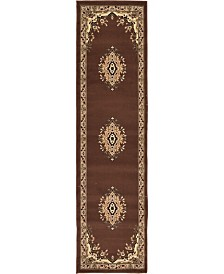 "Bridgeport Home Birsu Bir1 Brown 2' 2"" x 8' 2"" Runner Area Rug"
