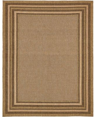 Pashio Pas6 Brown 9' x 12' Area Rug