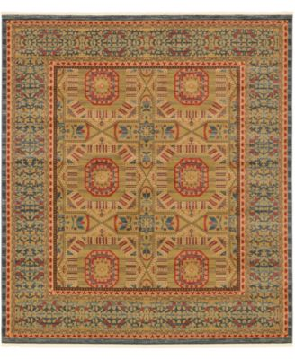 "Wilder Wld6 Blue 10' x 11' 4"" Square Area Rug"