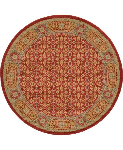 Bridgeport Home Wilder Wld7 Red 8' x 8' Round Area Rug