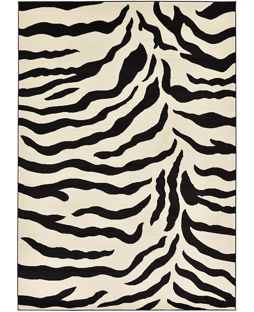Bridgeport Home Maasai Mss3 Ivory 7' x 10' Area Rug