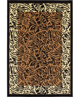 Maasai Mss7 Light Brown 6' x 9' Area Rug