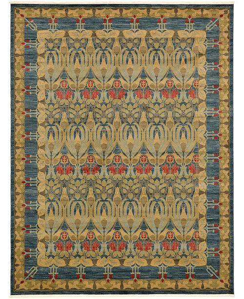 Bridgeport Home Orwyn Orw3 Blue 10' x 13' Area Rug