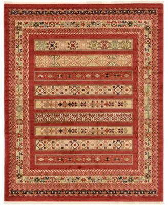 Ojas Oja4 Rust Red 4' x 6' Area Rug