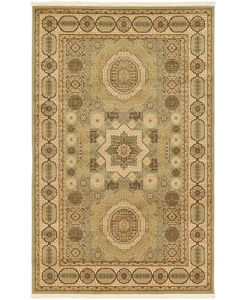 Bridgeport Home Wilder Wld2 Light Green 5' x 8' Area Rug