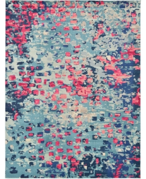 Bridgeport Home Adah Ada1 Blue 9' x 12' Area Rug
